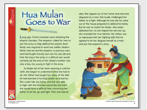 Hua Mulan goes to War