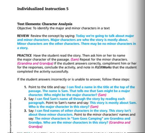 Individualized Instructions