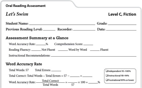 Oral Reading Assessment